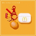 Cute McDonald's Hamburger | Airpod Case | Silicone Case for Apple AirPods 1, 2, Pro (81405)