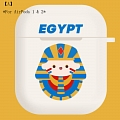 Lovely Egyptian Pharaoh | Airpod Case | Silicone Case for Apple AirPods 1, 2, Pro (81421)