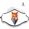 Reusable Washable Adjustable Adult Kids Face Mask • Fox • Cotton • Lovely Animal with Filter Pocket Nose Wire
