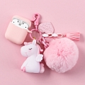 Lovely 담홍색 Unicorn | Airpod Case | Silicone Case for Apple AirPods 1, 2, Pro 코스프레 (81530)