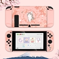 Pink Nintendo Switch Shell Protection Cover - Sakura Cat