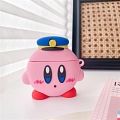 Lovely 담홍색 Kirby Airpod Case | Silicone Case for Apple AirPods 1, 2, Pro 코스프레