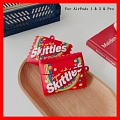 Lovely Rot Skittles Bonbon Airpod Case | Silicone Case for Apple AirPods 1, 2 und Pro Cosplay