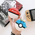Lovely Pokémon Balls Rosso Giallo Blu Airpods Case | Silicone Case for Apple AirPods 1 e 2 only Cosplay