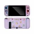 Purple Chibi Pokemon Switch Shell Protection Cover TPU