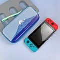 Cute Cartoon Blue Back White Fuji Blue Japanese Wave Nintendo Switch Carrying Case - 10 Game Cards Holding