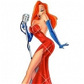 Jessica Rabbit Cosplay Costume from Who Framed Roger Rabbit